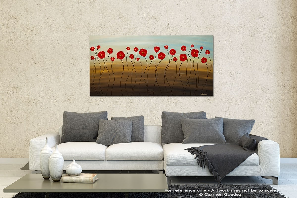 Hungarian Poppies Contemporary Abstract Art Id35