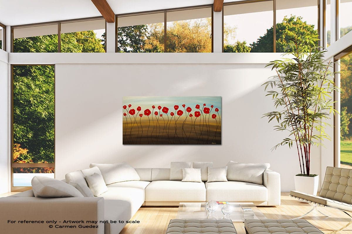 Hungarian Poppies Modern Canvas Abstract Art Id38