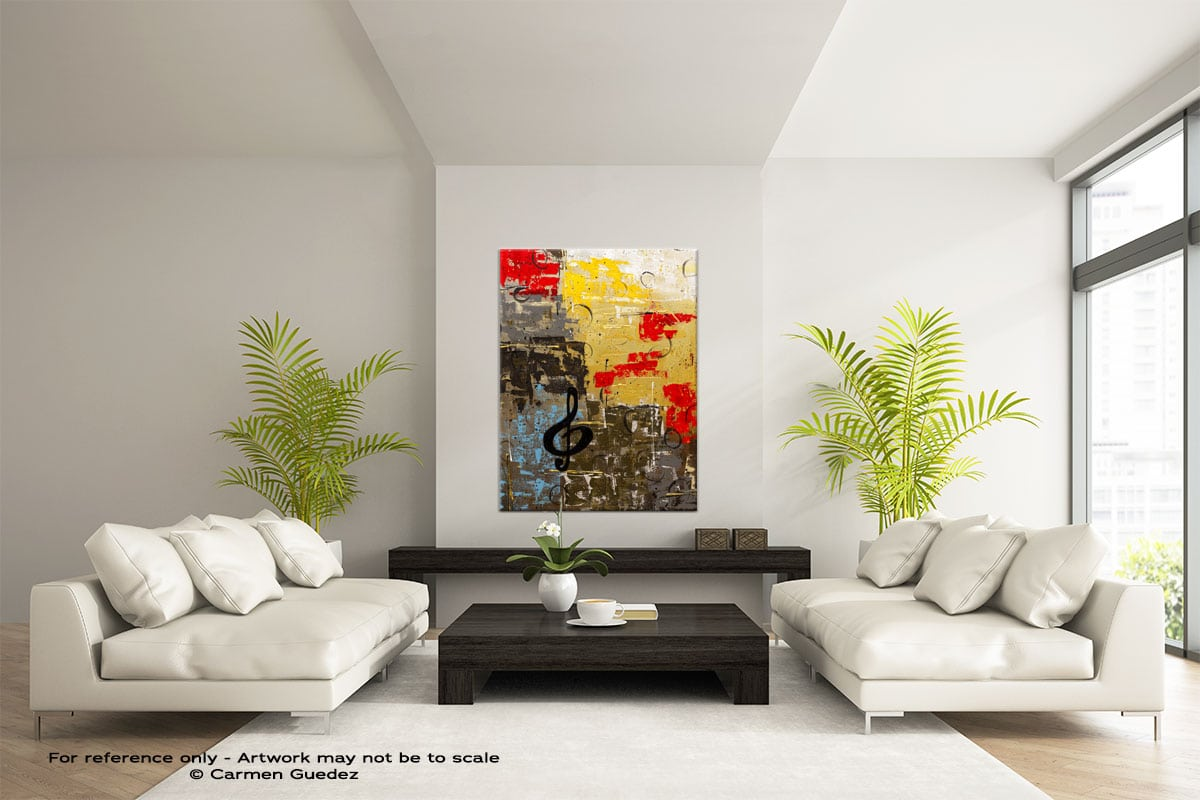 I Like It Like That Vertical Abstract Wall Art Painting Id57