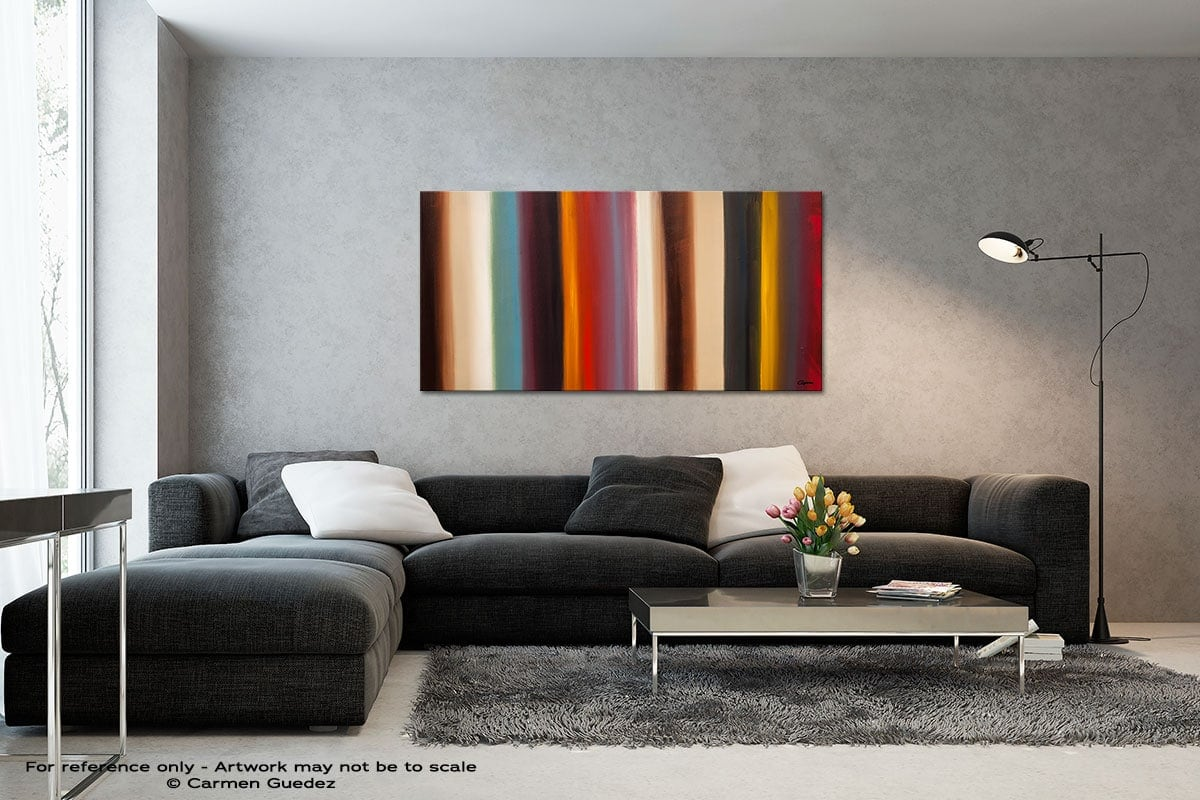 Illusion Black And White Wall Abstract Art Painting Id70