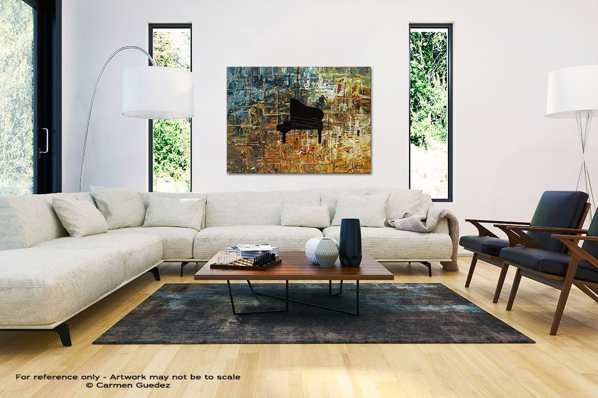 Impromptu Black And White Interior Decor Abstract Art Id46