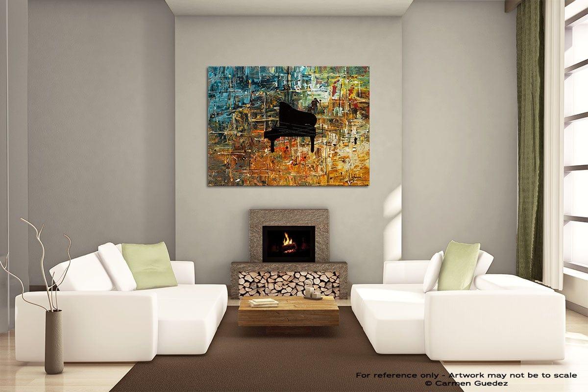 Impromptu Painting On Canvas Large Living Room Id52