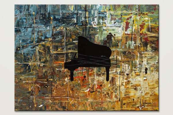 Impromptu Piano Music Abstract Art Id80