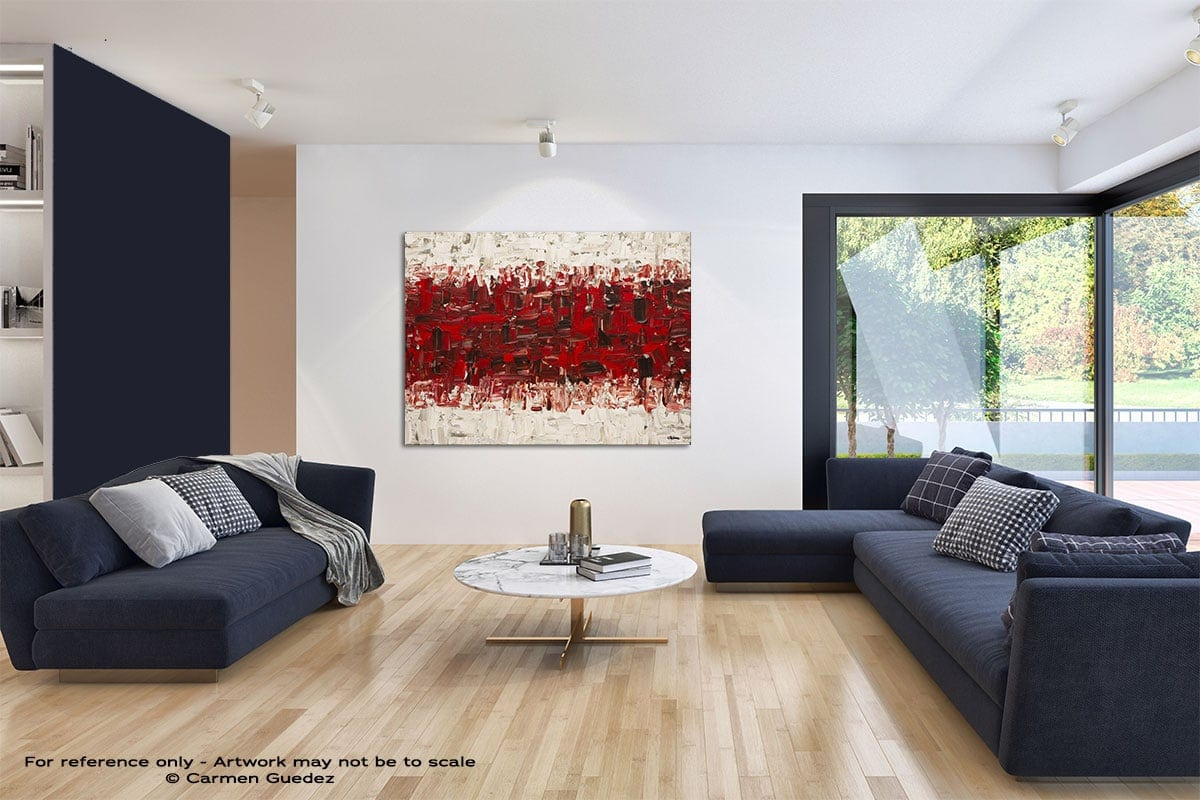 In Between Modern Blue Abstract Painting Home Id50