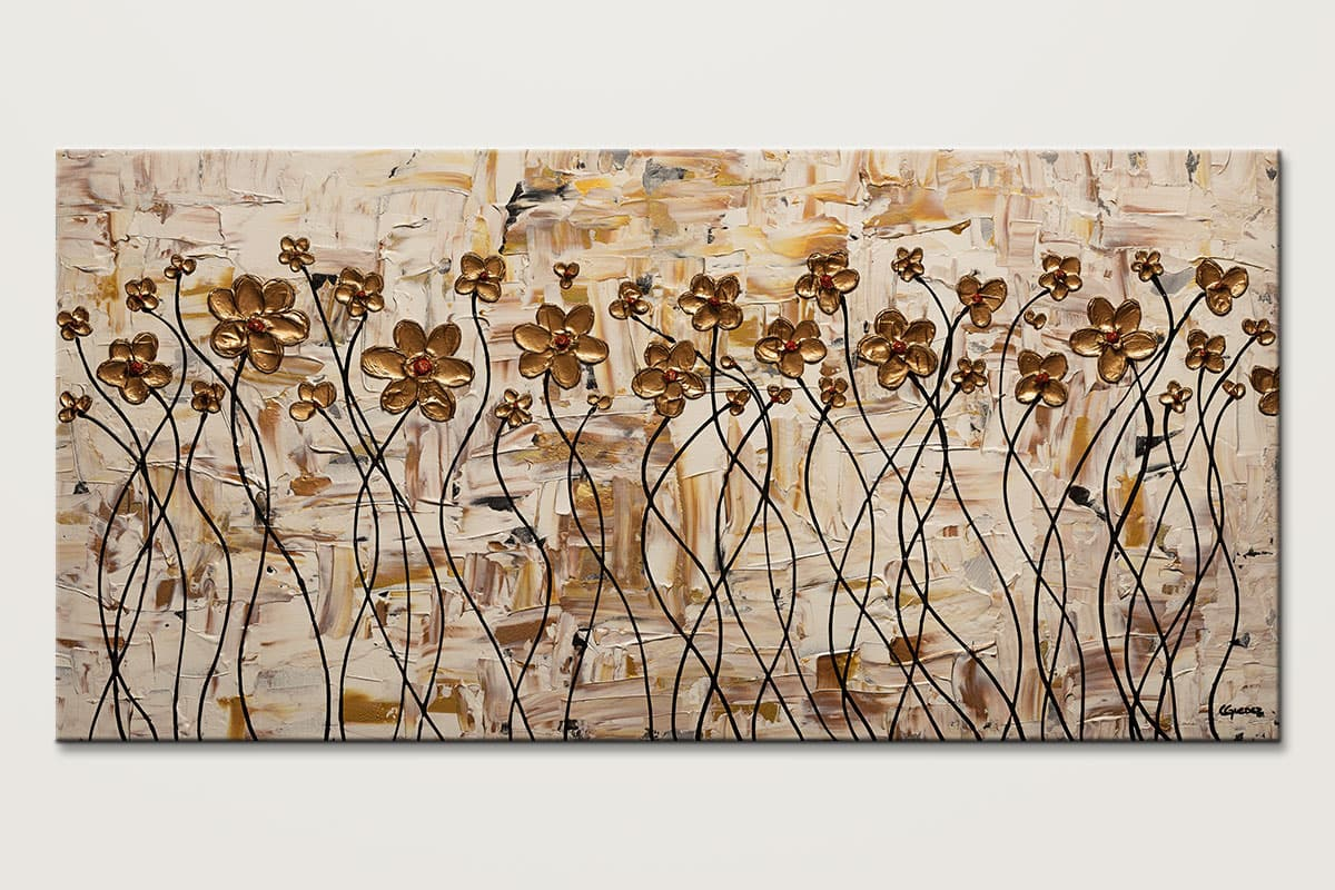 In My Dreams Gold Poppy Flowers Painting Id80 1
