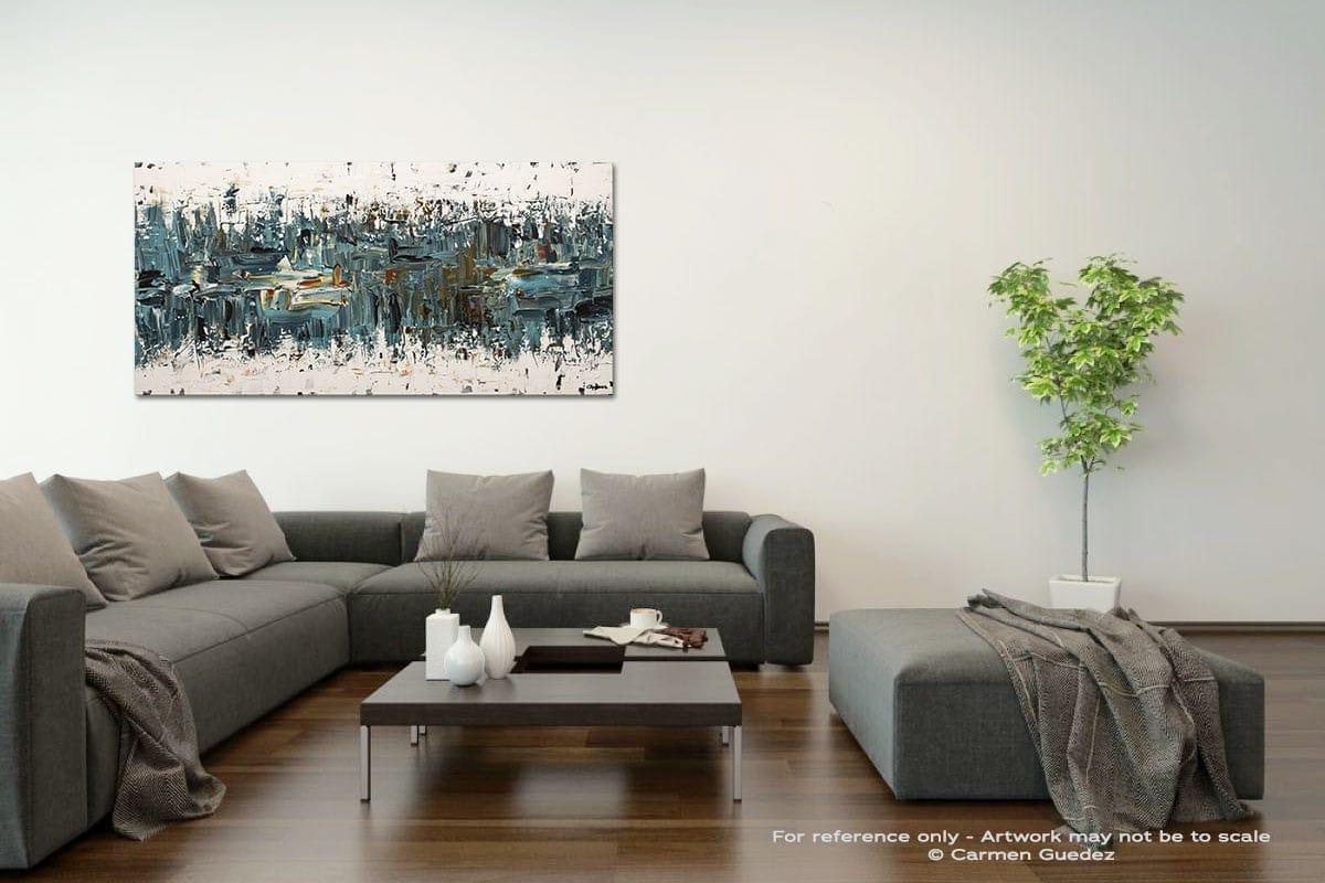 Incognito Acrylic Gray Wall Art Painting Id34