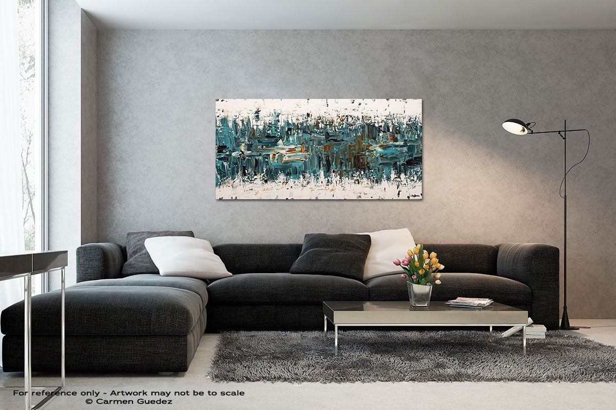 Incognito Black And White Wall Abstract Art Painting Id70