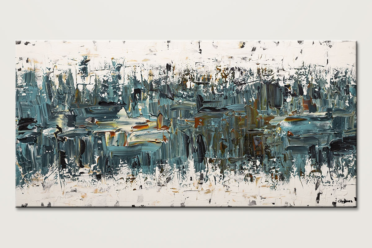 Incognito Blue Abstract Canvas Painting Id80 1