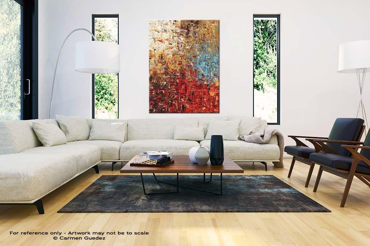 Infinite Joy Large Vertical Wall Art Painting Id53