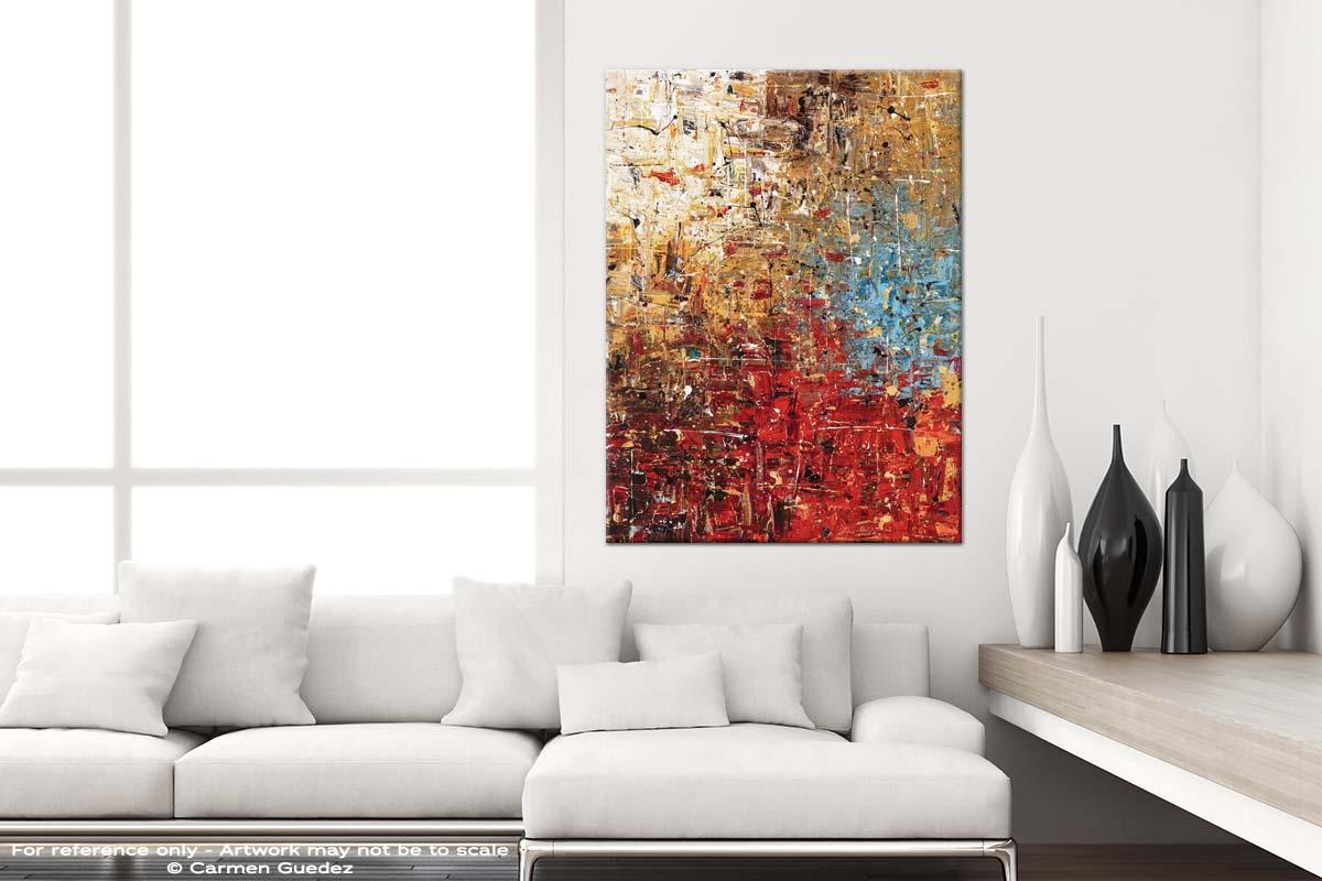 Infinite Joy Modern Vertical Black And White Interior Abstract Art Id54