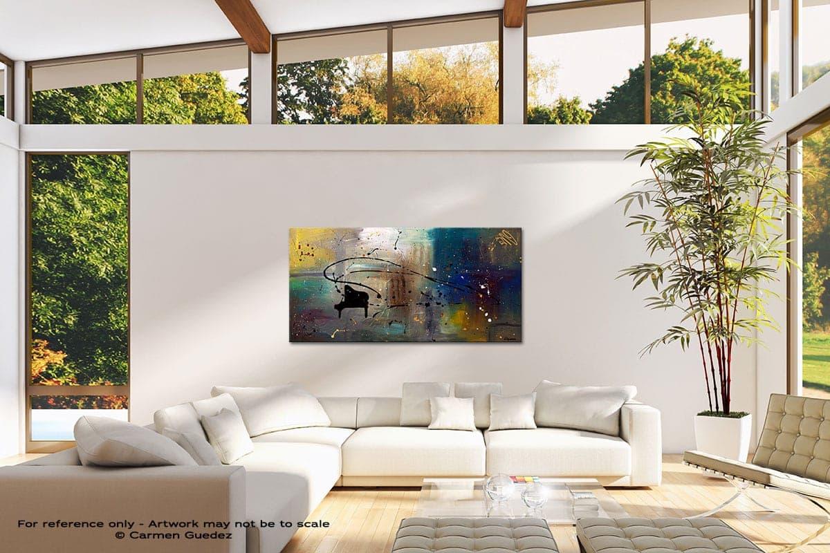 Jazz Night Modern Canvas Abstract Art Id38