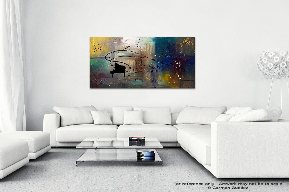 Jazz Night Wall Art Canvas Painting Id40