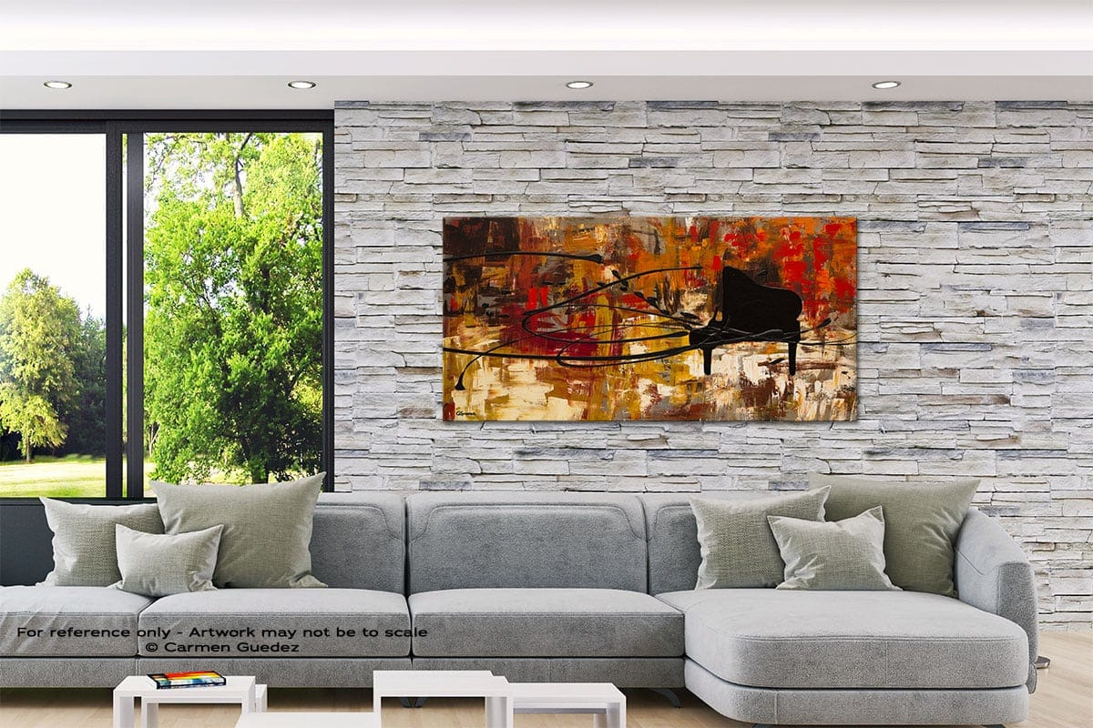 Keep The Tune Abstract Canvas Painting Interior Decor Id33