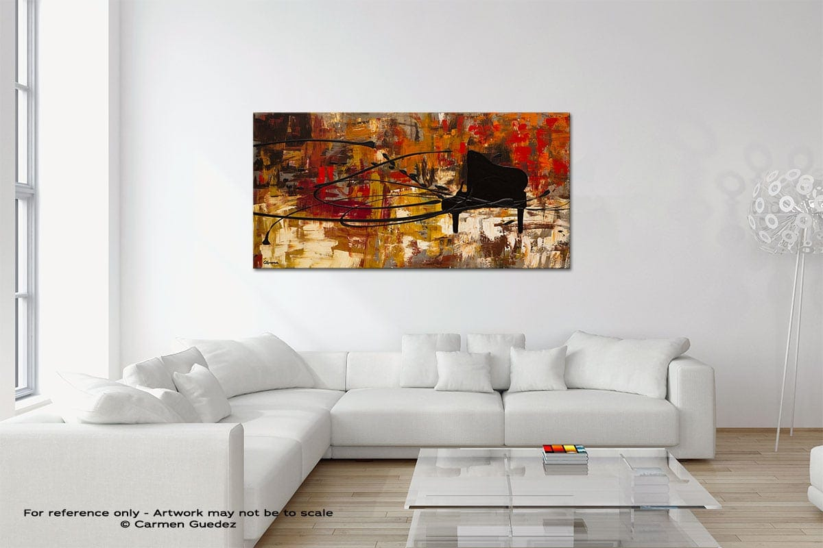 Keep The Tune Original Neutral Abstract Wall Art Room Id39