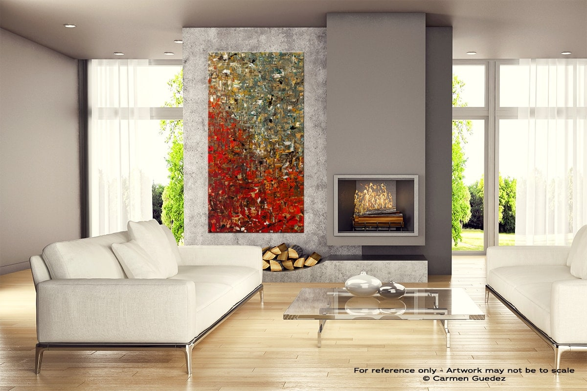 La Fontaine Abstract Canvas Painting Home View Id11