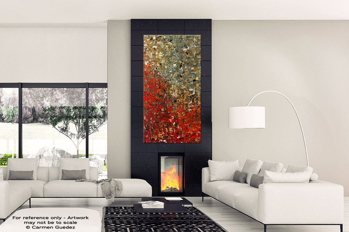 La Fontaine Black Abstract Art Wall Painting Id12