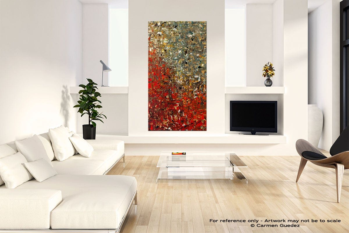 La Fontaine Neutral Wall Art Abstract Painting Id14