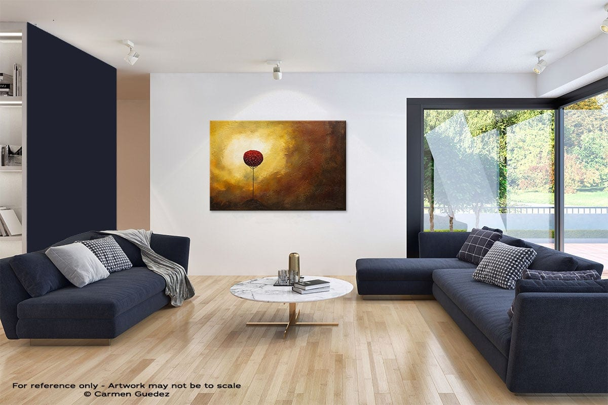 La Vie Est Belle Abstract Art Blue Interior Home Id59