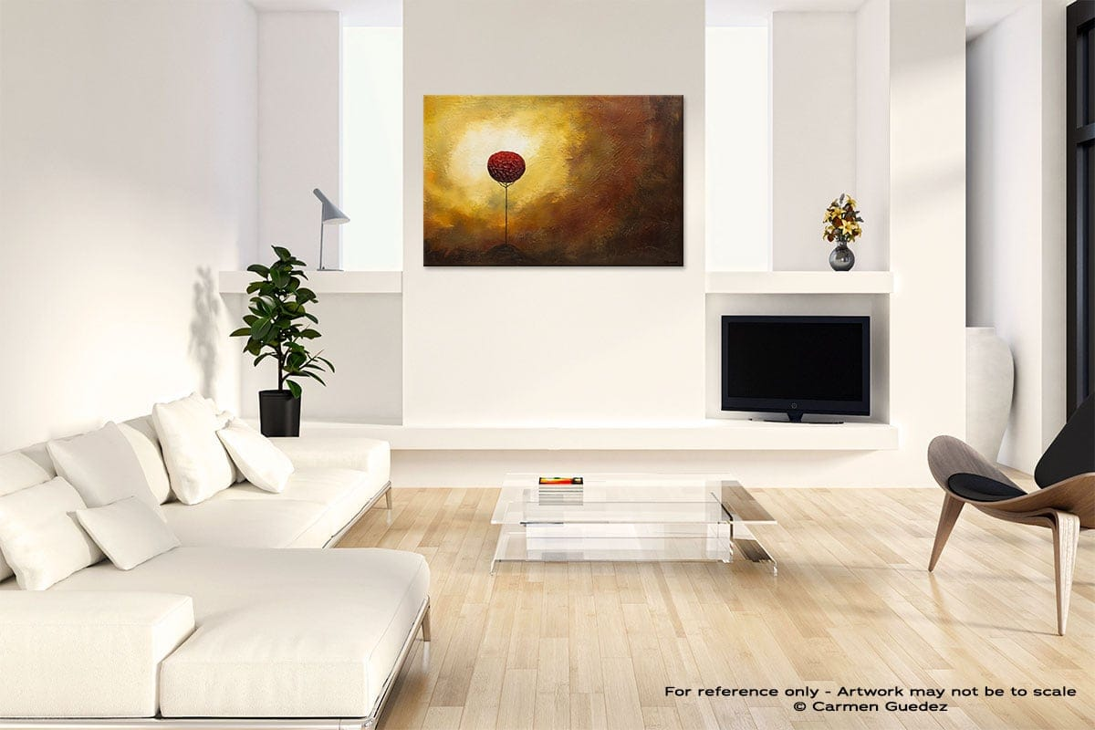 La Vie Est Belle Abstract Art Painting Interior Living Room Design Id60