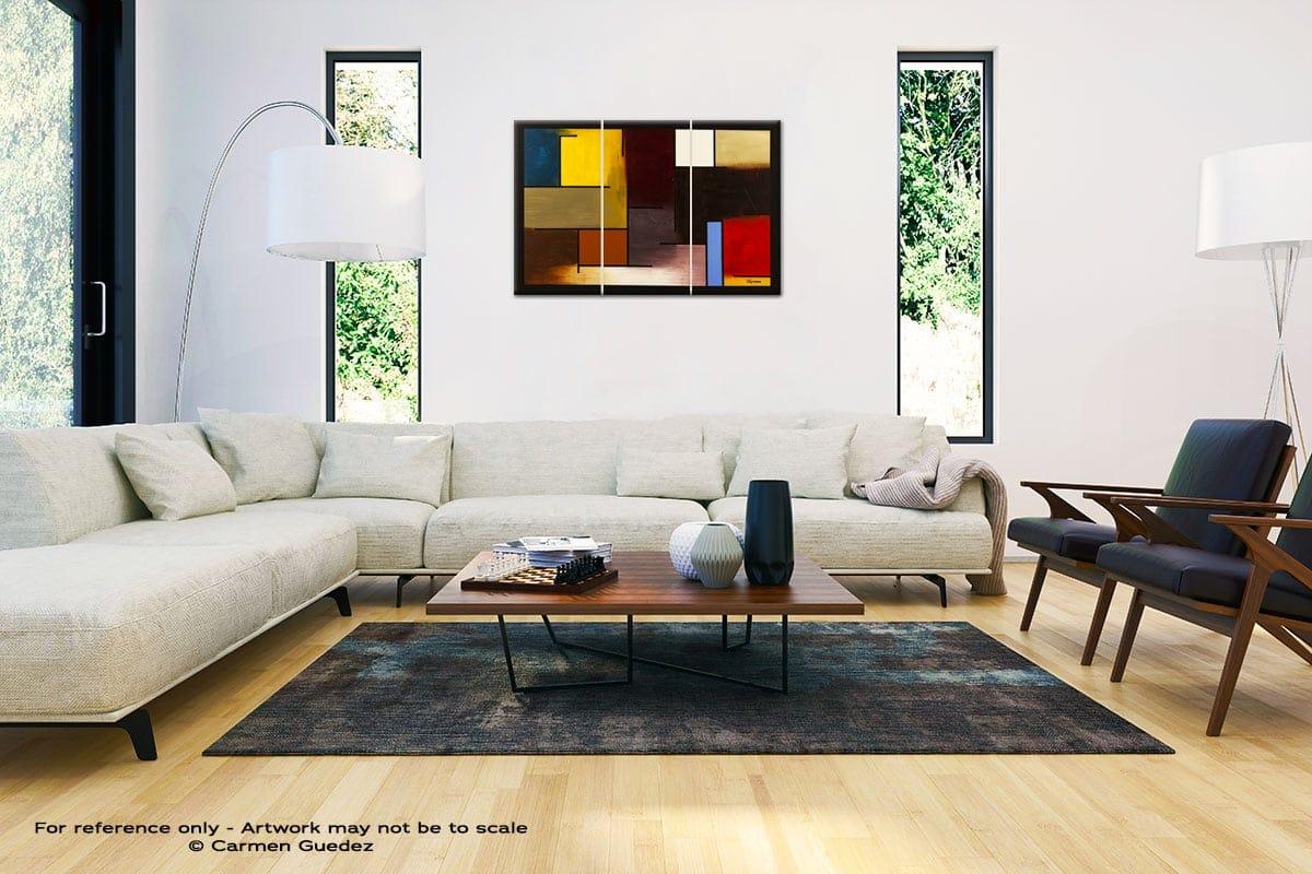 La Ville De Paris Abstract Painting Interior Decor Art Id61