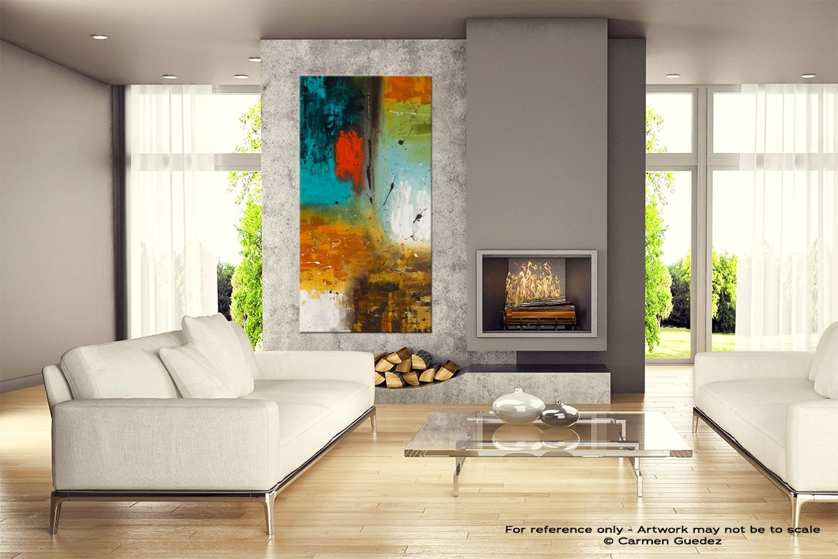 Landmarks Abstract Canvas Painting Home View Id11