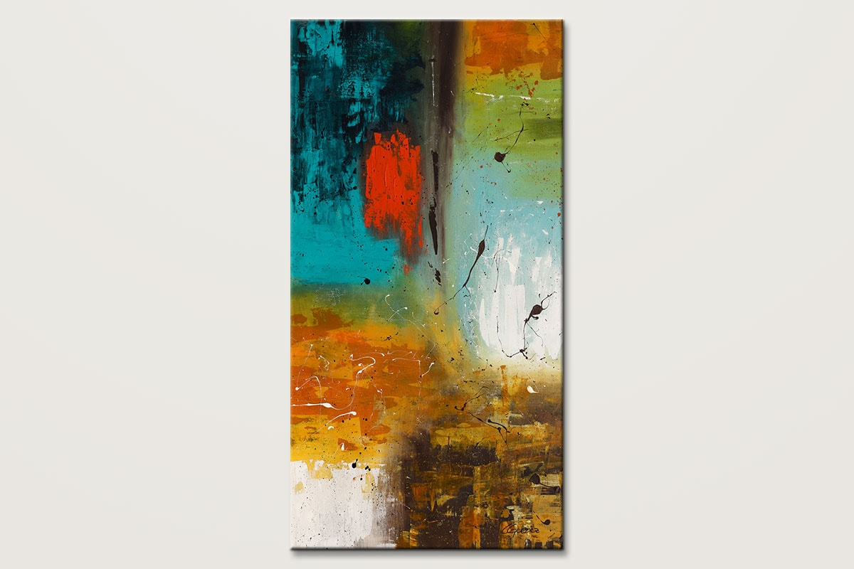 Landmarks Vertical Abstract Painting Id80