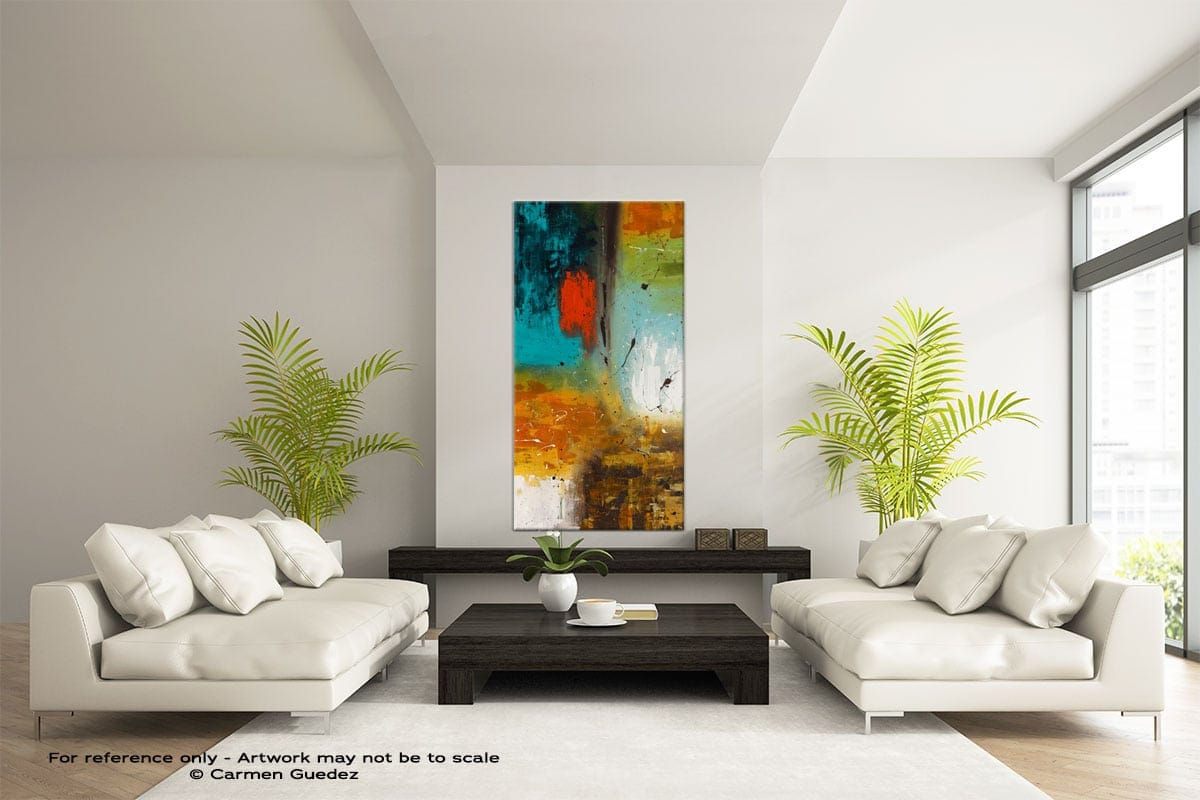 Landmarks Vertical Large Abstract Painting Id16