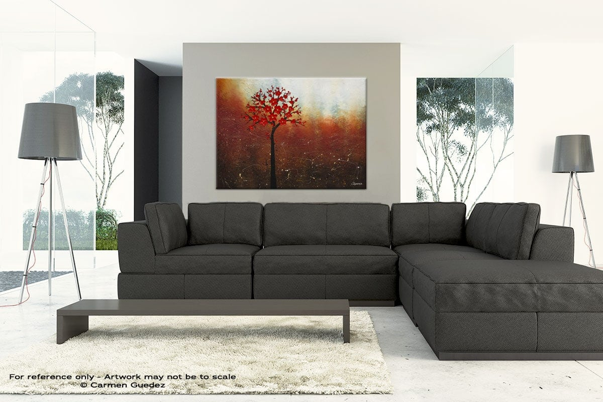 Large Abstract Art Painting Id30 Dreamy Nature