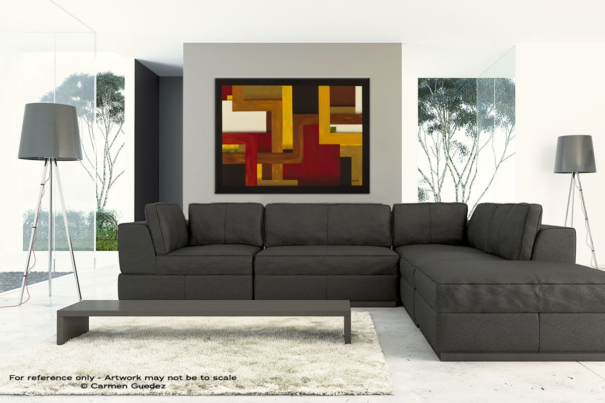 Large Abstract Art Painting Id30 Fortaleza