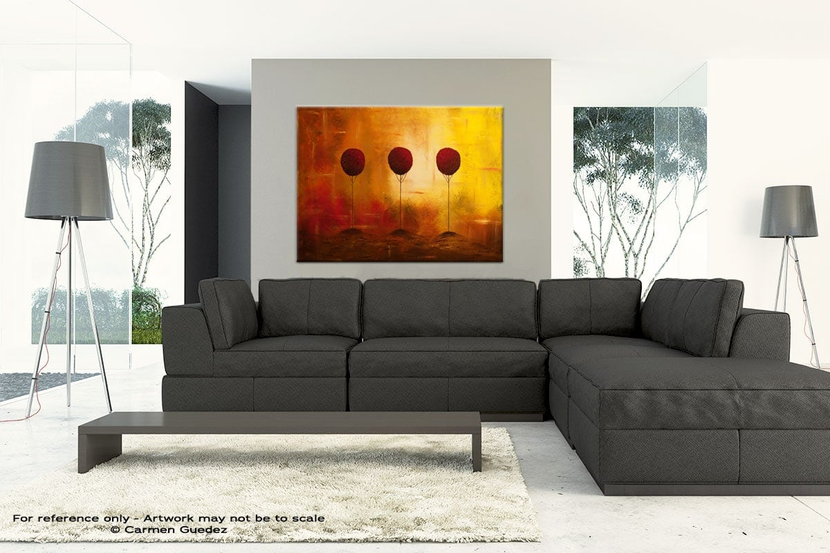 Large Abstract Art Painting Id30 Three Alone But Together
