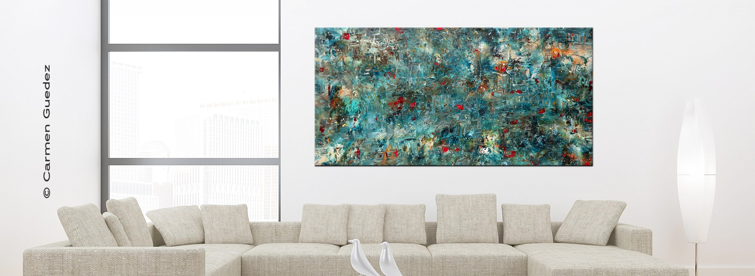 Large Abstract Art Painting Single2 2650 972