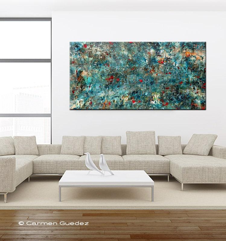 Large Abstract Art Painting Singlemob2 800 749