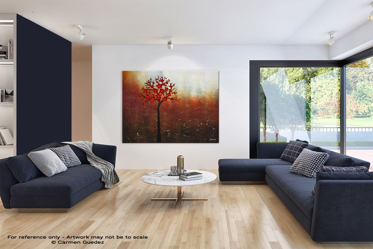 Large Blue Abstract Art Living Room Id31 Dreamy Nature