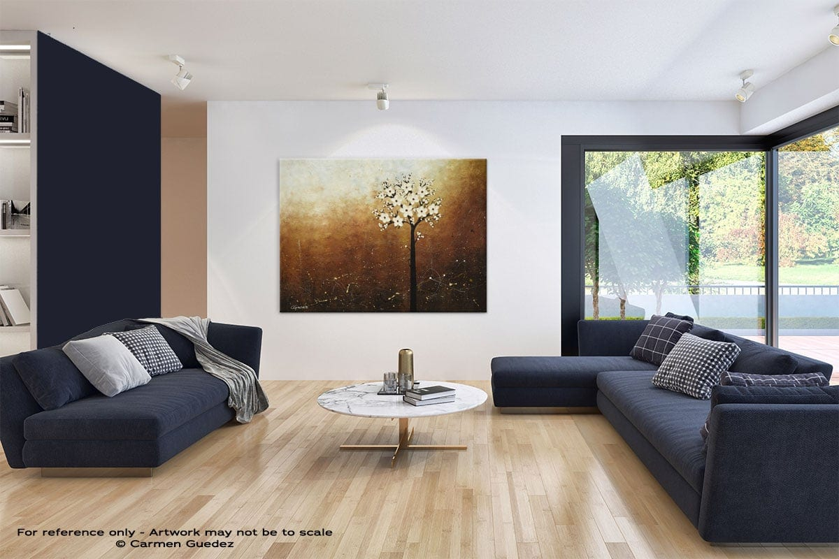 Large Blue Abstract Art Living Room Id31 Hope On The Horizon