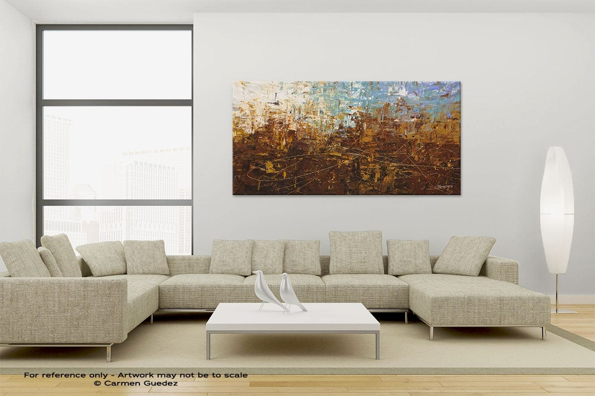 Large Canvas Abstract Painting Id6 Benvenuto