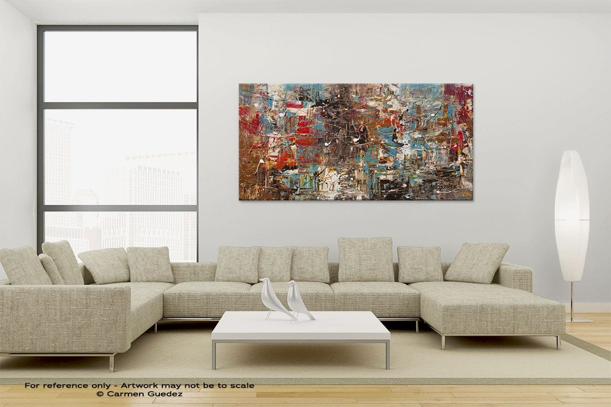 Large Canvas Abstract Painting Id6 Cant Stop