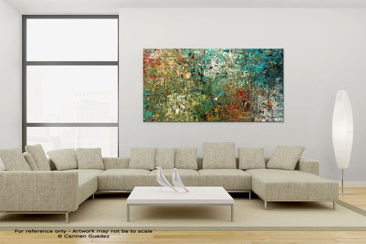 Large Canvas Abstract Painting Id6 Discovery