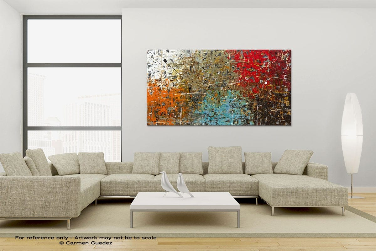 Large Canvas Abstract Painting Id6 Now Or Never