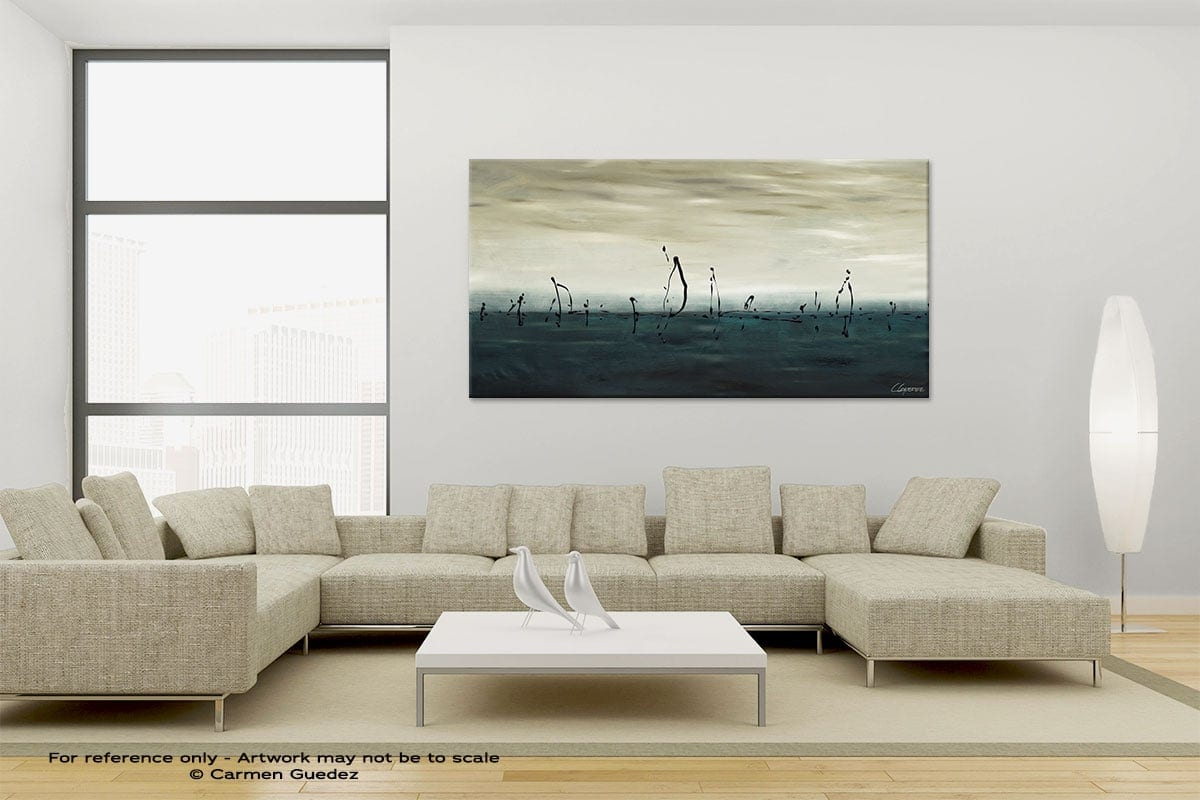 Large Canvas Abstract Painting Id6 Sailing
