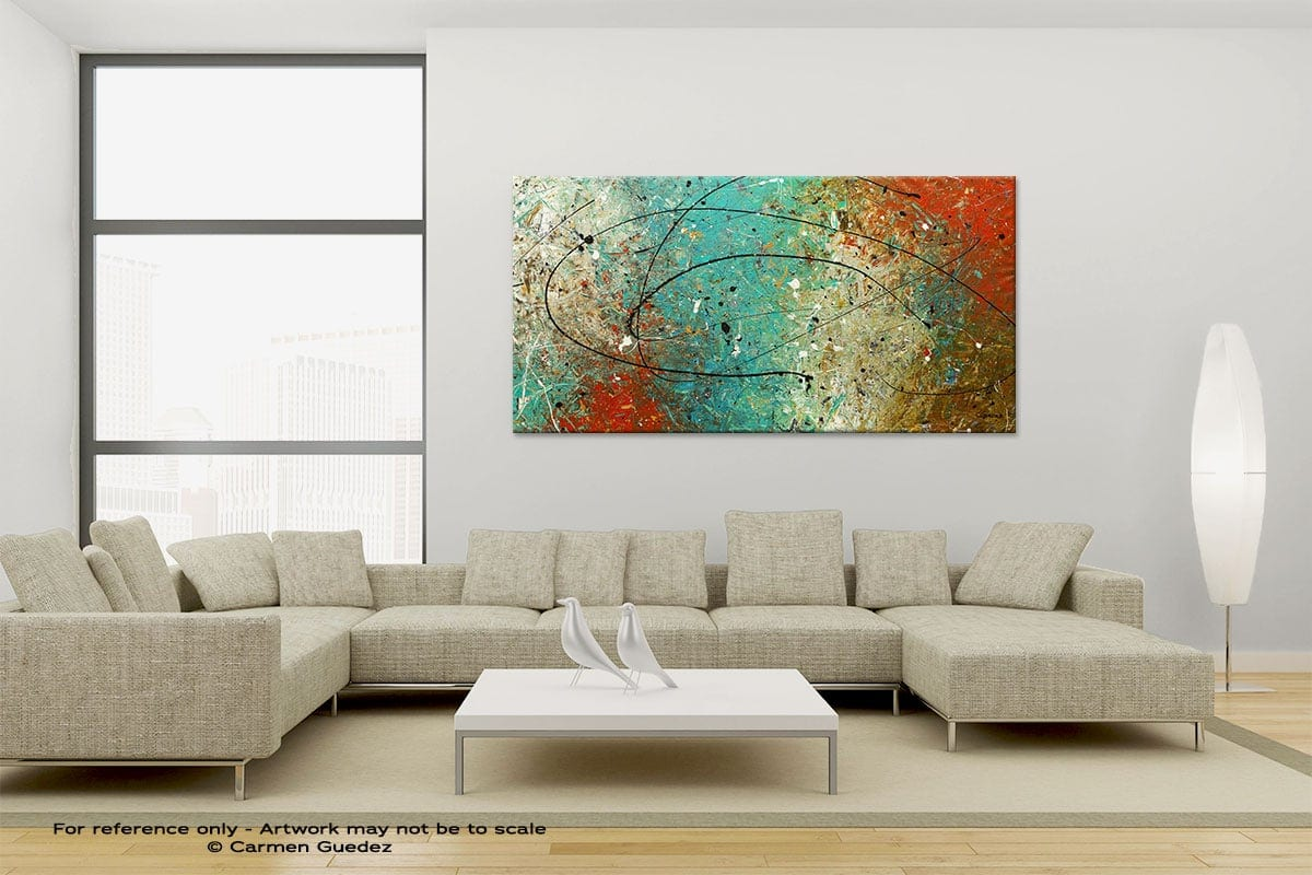 Large Canvas Abstract Painting Id6 Sight To Behold
