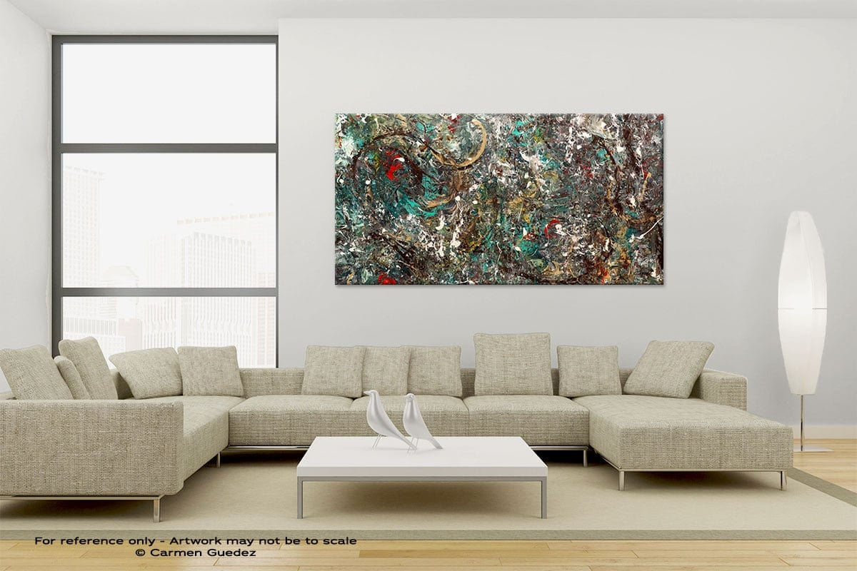Large Canvas Abstract Painting Id6 The Gold Ring
