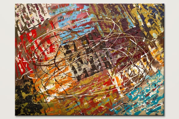 Le Monde Oversized Abstract Art Painting Id80