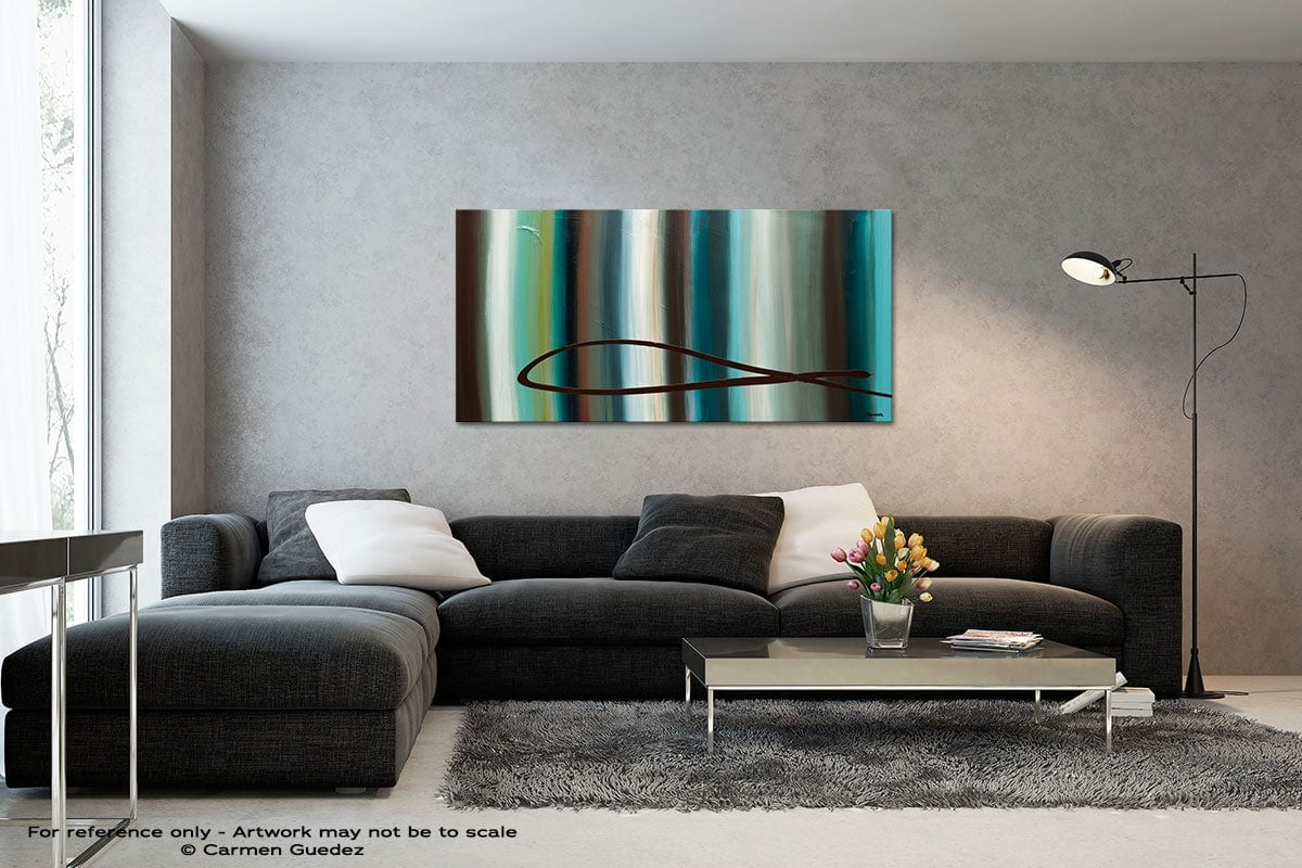 Le Onde Black And White Wall Abstract Art Painting Id70