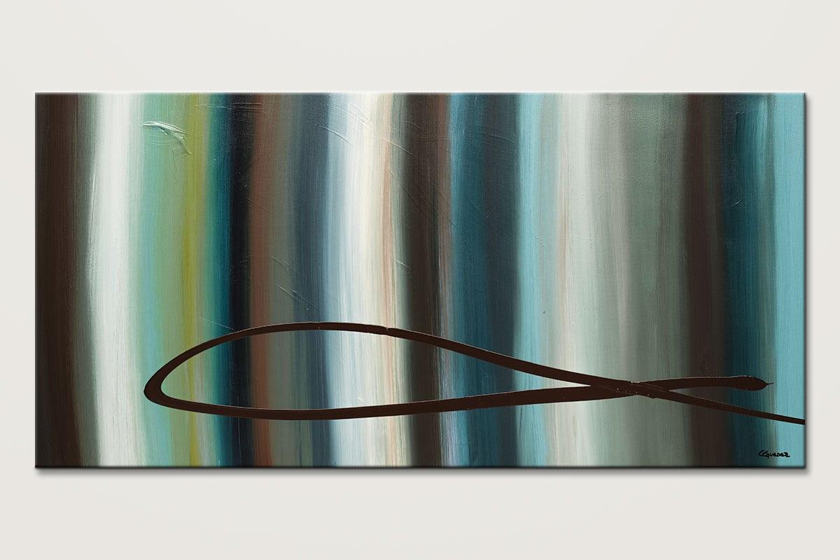 Le Onde Mid Century Modern Abstract Art Id80