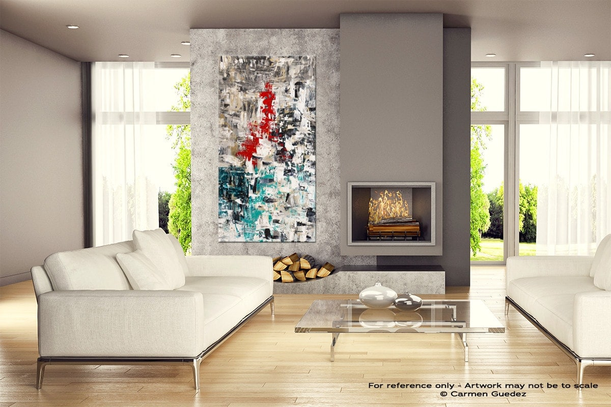 Le Paris Abstract Canvas Painting Home View Id11