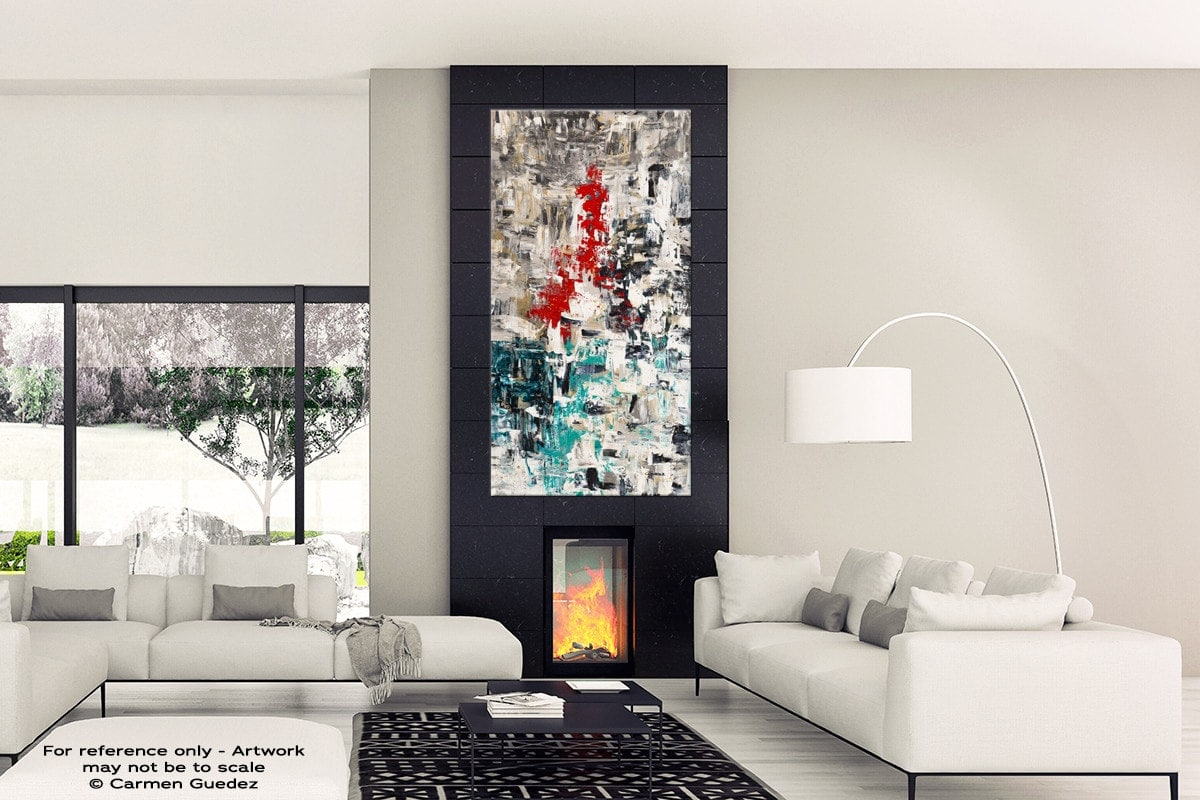 Le Paris Black Abstract Art Wall Painting Id12