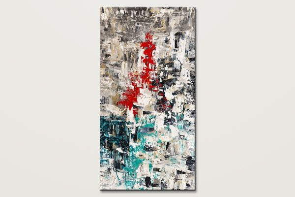 Le Paris Extra Large Vertical Abstract Art Id80