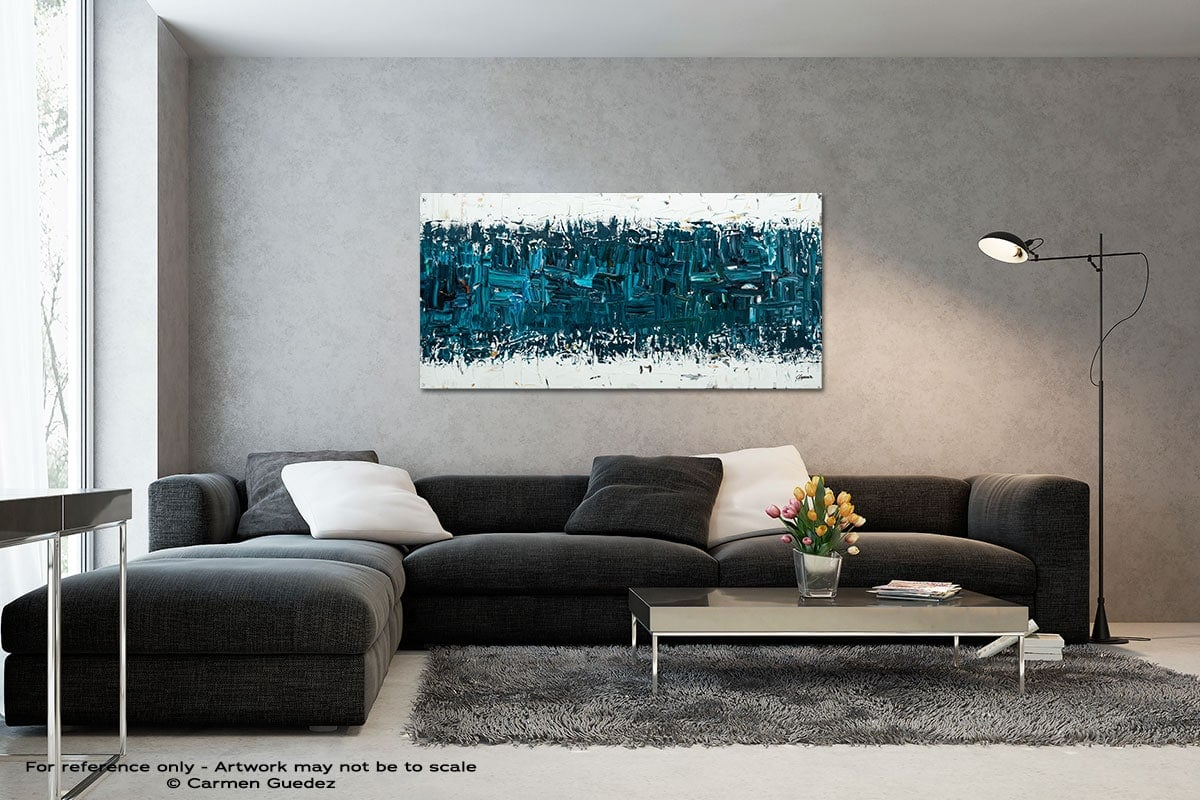 Like Night And Day Black And White Wall Abstract Art Painting Id70