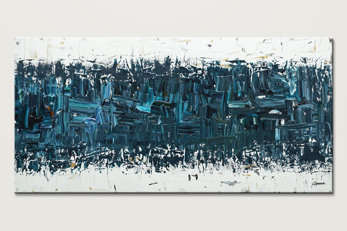 Like Night And Day Blue Abstract Art Id80