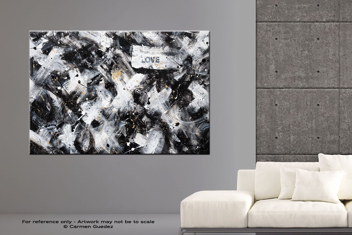Love Is Love Abstract Art Modern Painting Large Id76